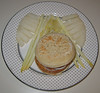 20070203 White Dinner (asparagus, jicama, garden burger on crumpet)