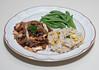 00aFavorite 20150816 Black Bean Stew w Marinara and Napa Cabbage, Brown Jasmine Rice w Roasted Corn and Fresh Zucchini (No Added Fat) (2037)