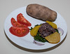 00aFavorite 20130610 Boiled Golden Beet w Refried Beans, Baked Potato (No Added Fat) (2145)