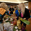 Many people brought their own cultured vegetables for others to taste.