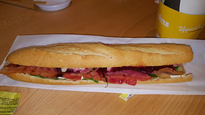 Brie, Bacon, Cranberry & Spinach Baguette
