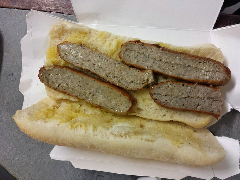 Sausage Ciabatta - served onboard Crosscountry Trains<br /> <br /> 16/07/14