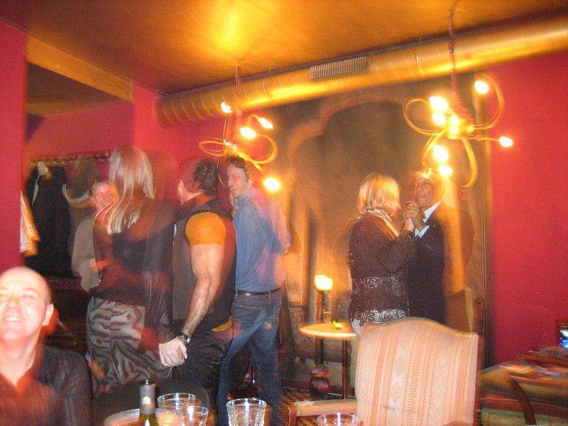 Salsa dancing in the restaurant