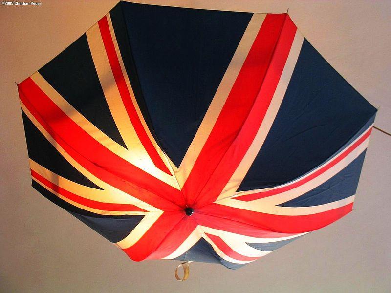 English umbrella lamp