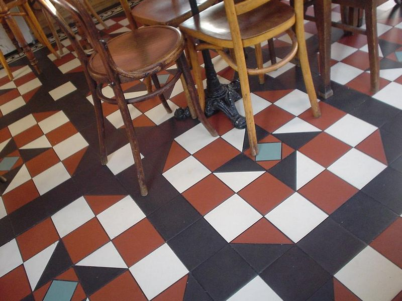 "The floor of <a href=""http://www.scallywagsrestaurants.com/index2.html"">Scallywags, the lunchroom</a>"