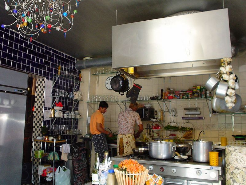 Richard, busy in the kitchen of Scallywags, so you can see how the food is prepared