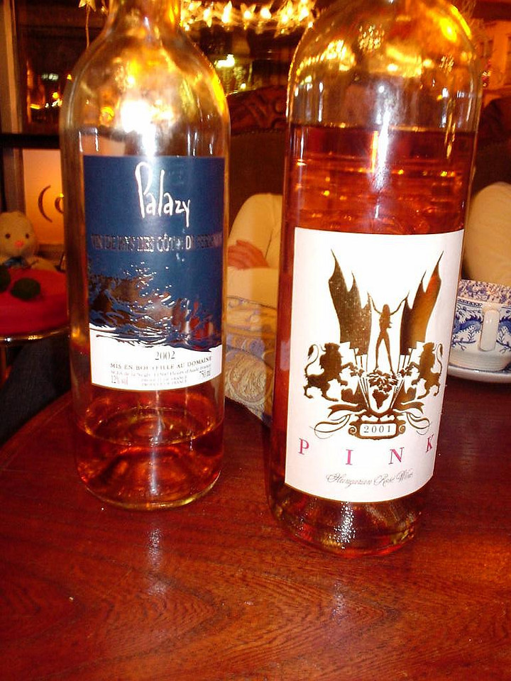 The good rosé (left) and the not so good (right). Sorry PINK, but it's true