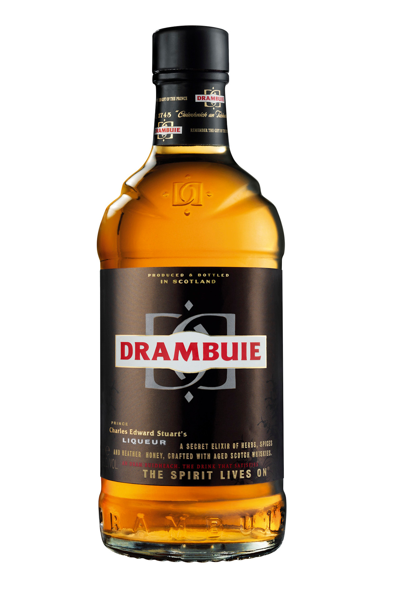 Drambuie is a liqueur that has been commercially produced in Edinburgh since the early 20th century. This drink is made from Scotch, herbs, honey, and spices.