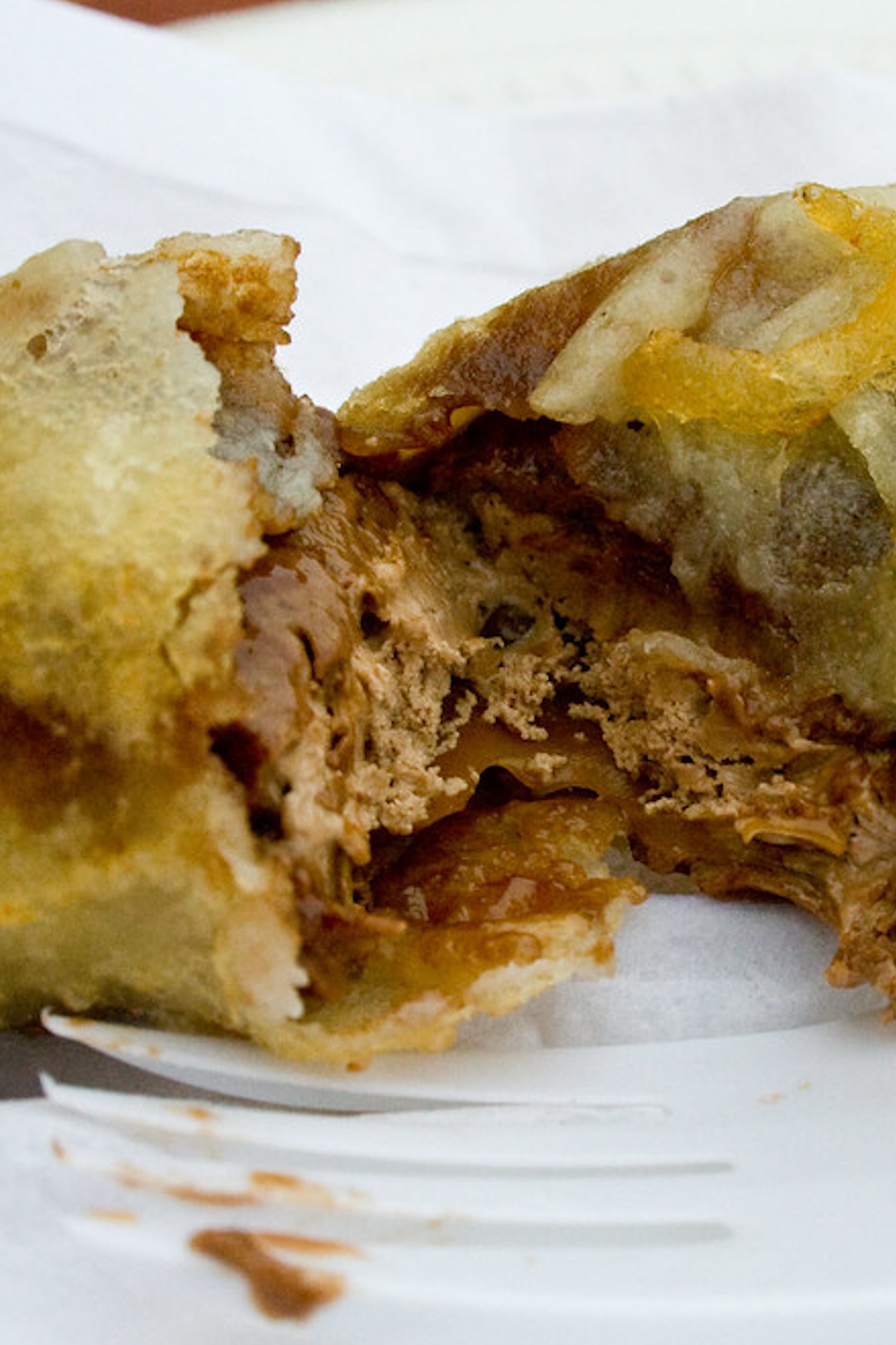 A common scottish food, deep fried mars bar.