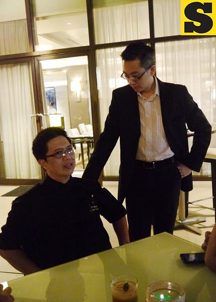 Executive sous chef Dean Manalo and Seda Hotel manager Lorenzo Tang. (Courtesy: Myles C. Albasin, UP Cebu Intern)