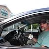 Scott Spindler of Methuen stops at Shaw's Ice Cream in Dracut. (SUN/Julia Malakie)