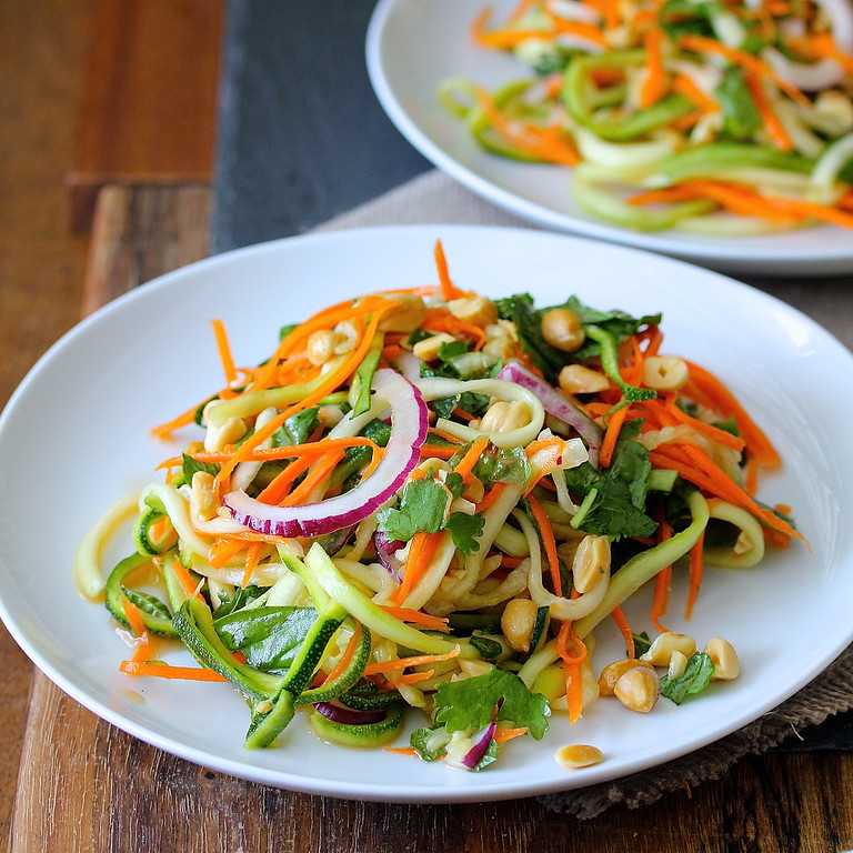 This Vietnamese Zucchini and Carrot Salad with Peanuts is incredibly light, refreshing, and flavorful.