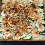 Cheesy Scalloped Zucchini Recipe