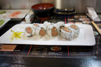 Spicy tuna roll.  The chef hooked me up and said he used toro to make this.  It was excellent.