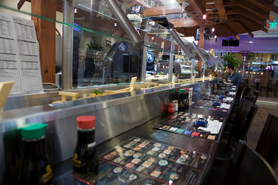The sushi bar.  At the end of the night, the bar emptied out.