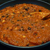 <h1>Chickpea Romesco</h1> This dish is wonderful ... combining the flavors of Fire Roasted Tomatoes with Roasted Red Peppers for the sauce.  Utterly fantastic when served over rice.  Found in Isa Chandra Moskowitz and Terry Hope Romero's cookbook: <i><b>Veganomicon</b></i>.