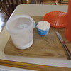 (3) The starter then has to be built up with flour and water, I feed it every 10hrs, at first one cup each and then double until I have what I need, about 4 or 5 cups and enough to save for later use