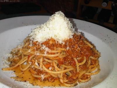 "Pasta al Ragu' - spaghetti Bolognese. £9.00 Served in ""Fresco"" in Teignmouth  31/05/13"