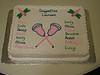 Dragonflies Lacrosse Cake