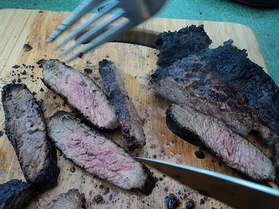 Rib-Eye Steak - cooked by Riviera BBQ  12/04/14