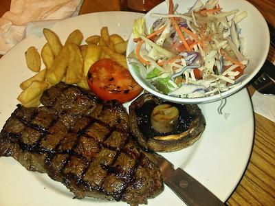 """100z Rump Steak. Served in """"Beefeater""""  26/02/14"""