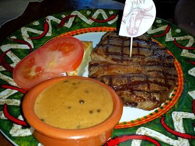 """T Bone Steak. €27.95. Served in """"Rodeo"""" in Breda  30/4/15"""
