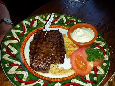 """Steak. Served in """"Rodeo"""" in Breda  30/04/15"""