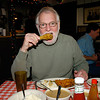 Your photographer, Dale Monaghen agrees the chicken was worth waiting for. Photo taken by another customer who had greasy hands. :~)