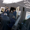 The door finally opens for the eager customers who stood in line for up to four hours to eat fried chicken at Stroud's.