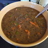 "<h1>Black Bean Soup</h1> A wonderful new creation from Susan Voisin on her Fat Free Vegan Blog.    The very unusual spices in this soup were quite intriguing to me ... ginger, allspice, nutmeg, along with onion, garlic, celery, and chili powder.  And orange juice!!  As I told my DH as I started making it ... I'm either going to love this or hate it.     Well ... it's definitely a LOVE IT!!  Plus, it has a bunch of greens in it, but they just disappear into the soup!  I really don't like cooked greens, but they're so good for you, I'm always looking for ways to get them in to my diet.  This soup is a superb way to do it ... trust me .. you don't notice them!!  Gluten free and fat free.  <b><a href=""http://blog.fatfreevegan.com/2010/01/tropical-black-bean-and-collard-green.html"">Recipe here</a></b>."
