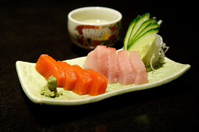 Elegant serving of Sashimi.