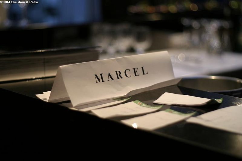 Marcel, the guest for whom there was no room at the Inn... :)