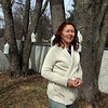 Laetitia Won of Tewksbury started her edible landscaping business, Earthling on the Loose, to help people make their soil healthy and grow food. She taps these silver maples in her yard and boils the sap into maple syrup. (SUN/Julia Malakie)