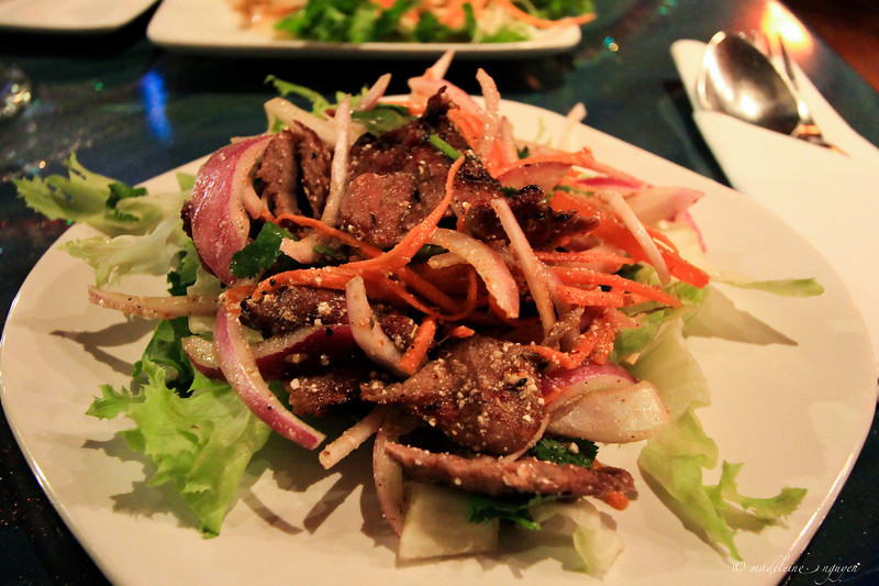 Tiger's Tear beef salad.