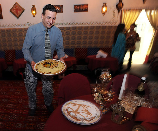 "The Kasbah Restaurant, specializing in Moroccan food, is part of a restaurant revival in downtown Lafayette.<br /> For more photos of the Kasbah, go to  <a href=""http://www.dailycamera.com"">http://www.dailycamera.com</a>.<br /> Cliff Grassmick/ January 28, 2010"