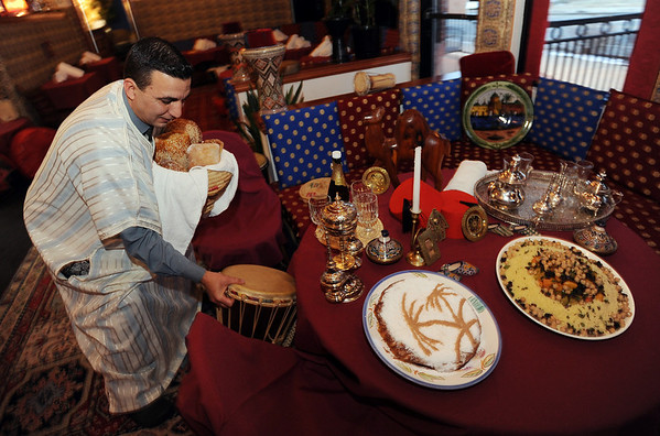"""The Kasbah Restaurant, specializing in Moroccan food, is part of a restaurant revival in downtown Lafayette.<br /> For more photos of the Kasbah, go to  <a href=""""http://www.dailycamera.com"""">http://www.dailycamera.com</a>.<br /> Cliff Grassmick/ January 28, 2010"""