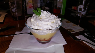 Strawberry Pimm's Trifle
