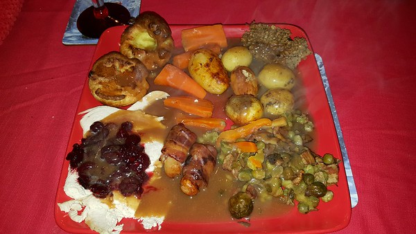 Roast Turkey Christmas Dinner,