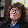 UMass Lowell Professor of Nutritional Epidemiology Katherine Tucker in her office. She has a grant to research a link between nutrition and dementia. (SUN/Julia Malakie)