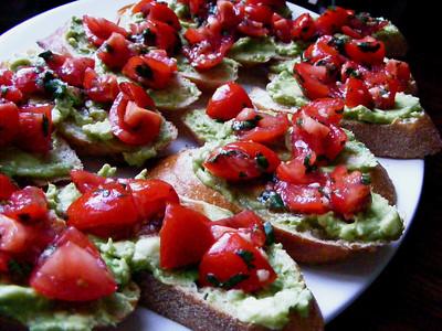 Avocado & Tomato Crostini