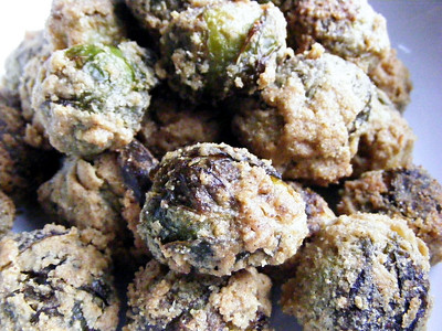 Cornmeal Masala Roasted Brussels Sprouts - Veganomicon