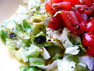 "Garden Salad with Homemade ""Good Seasons"" Italian Dressing"