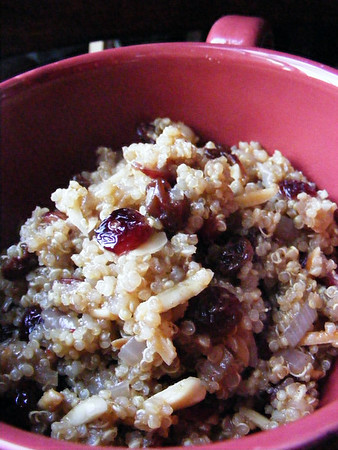 Curried Quinoa with Cranberries and Almonds