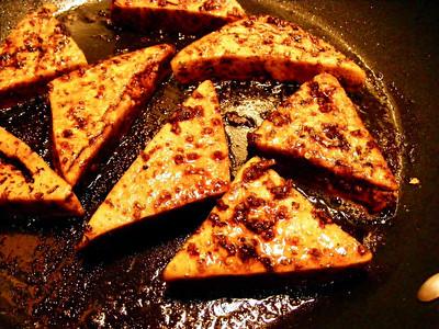 Dry Fried Tofu in Balsamic Marinade