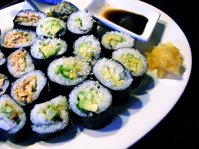 Cucumber & Avocado Sushi