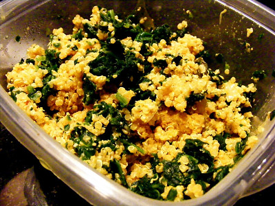 Cheezy Quinoa and Spinach