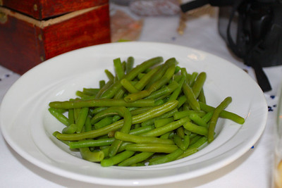 Green Beans. Served in Living Coasts in Torquay. 18/09/11