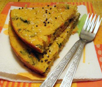 Handvo Vegetable Cornmeal Cake