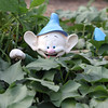 An elf in a plot at Westford Community Gardens. (SUN/Julia Malakie)