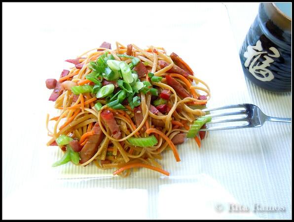BBQ Pork Lo Mein